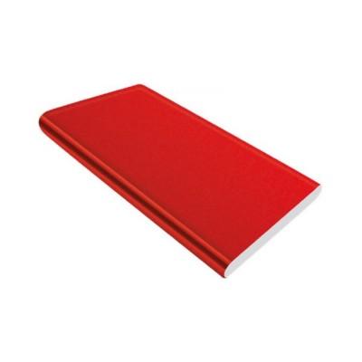 Czerwony power bank z logo gadżet reklamowy