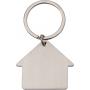Srebrny brelok z grawerem w kształcie domu